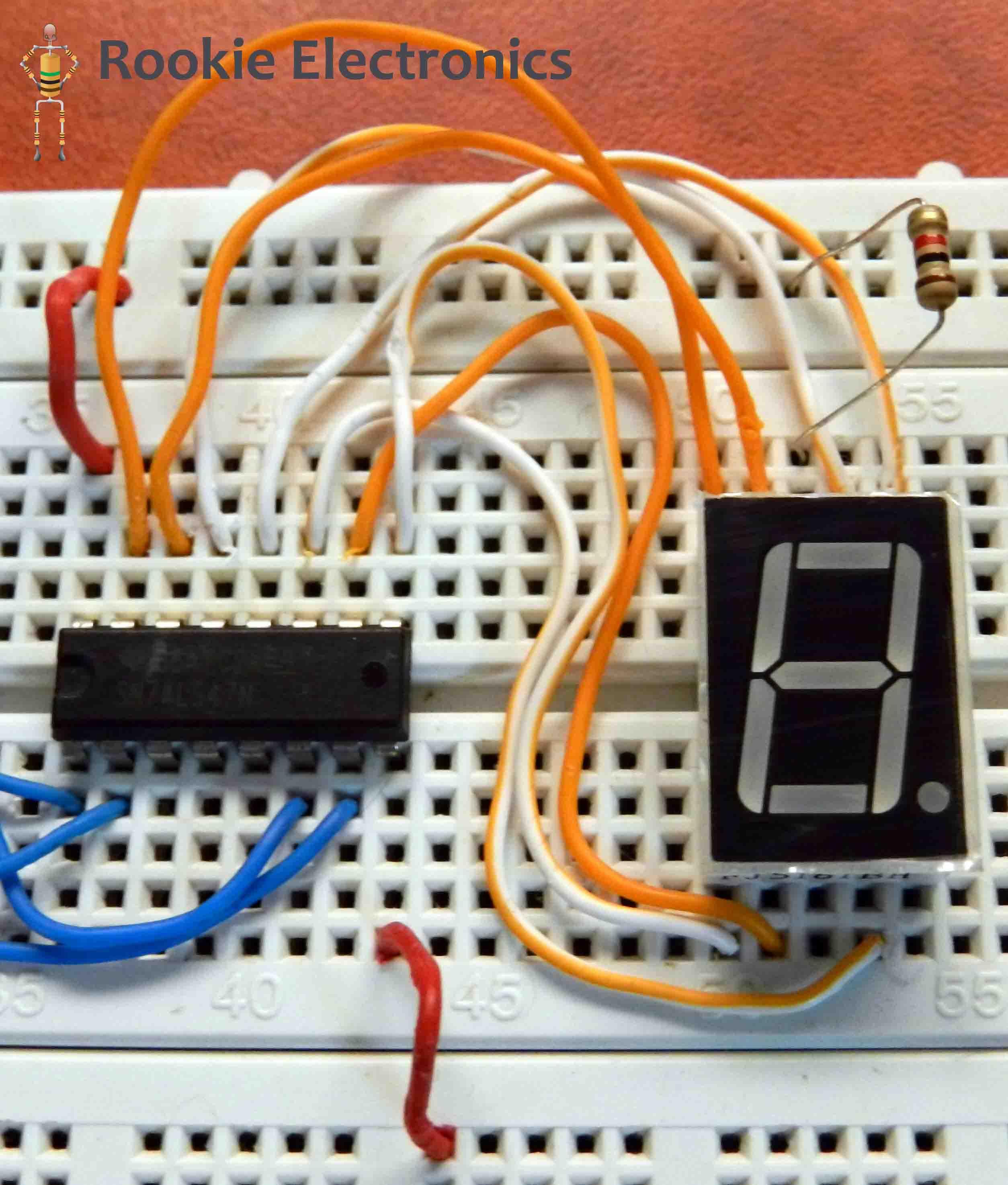 Zero 2 Nine Counter Electronics Lab 7segdriverinverterwiringdiagramjpg 7 Segment Display Common Anode 9v Battery With Clip Circuit Diagram Bread Board Arrangement Pin Confiiguration
