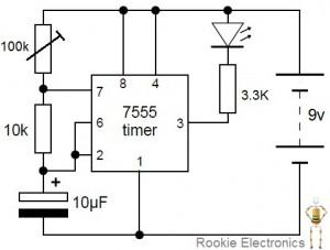 555 Led Flasher Circuit Diagram