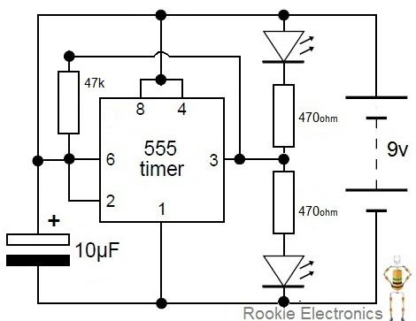 flashing rail road lights rookie electronics electronics rh rookieelectronics com 3-Way Switch Light Wiring Diagram Flood Light Wiring Diagram