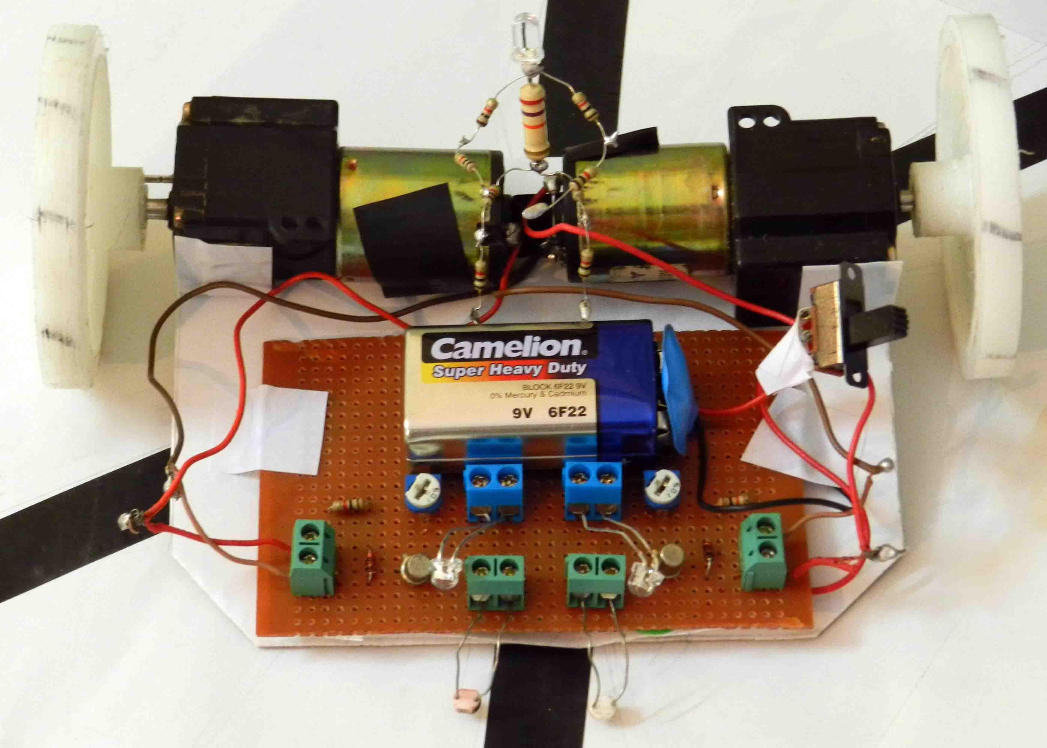 LFR using BC108 Transistors | Rookie Electronics | Electronics ...