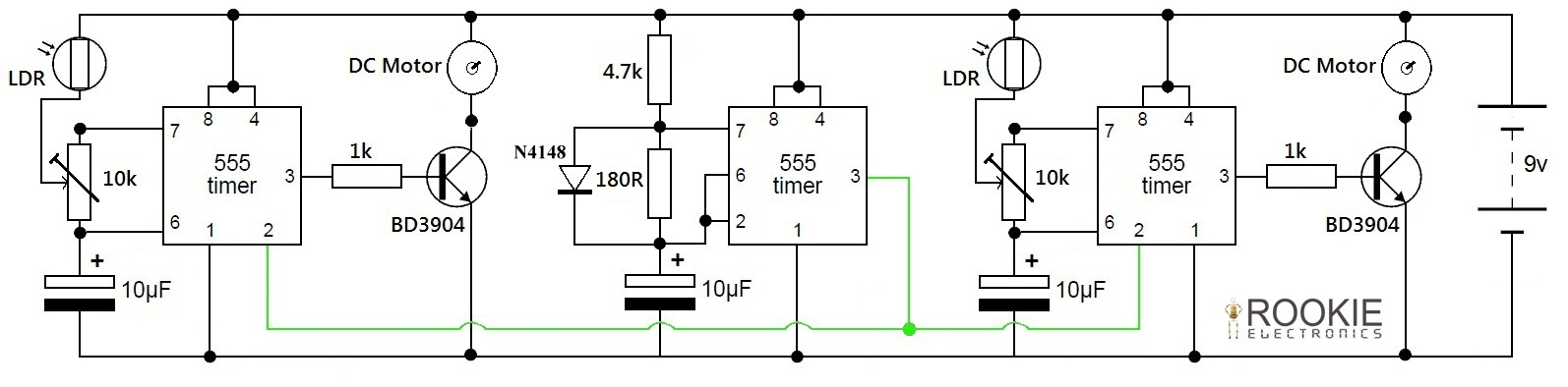 LFR Using Just 555 Timers | Rookie Electronics | Electronics ...