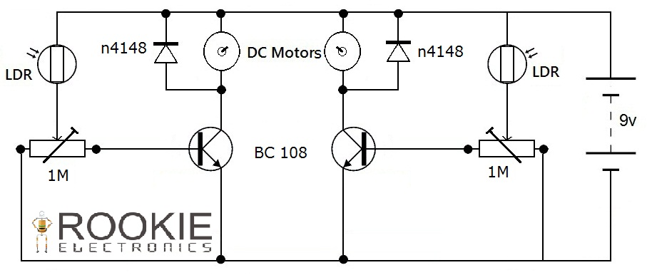 LFR using BC108 Transistors | Rookie Electronics | Electronics ...