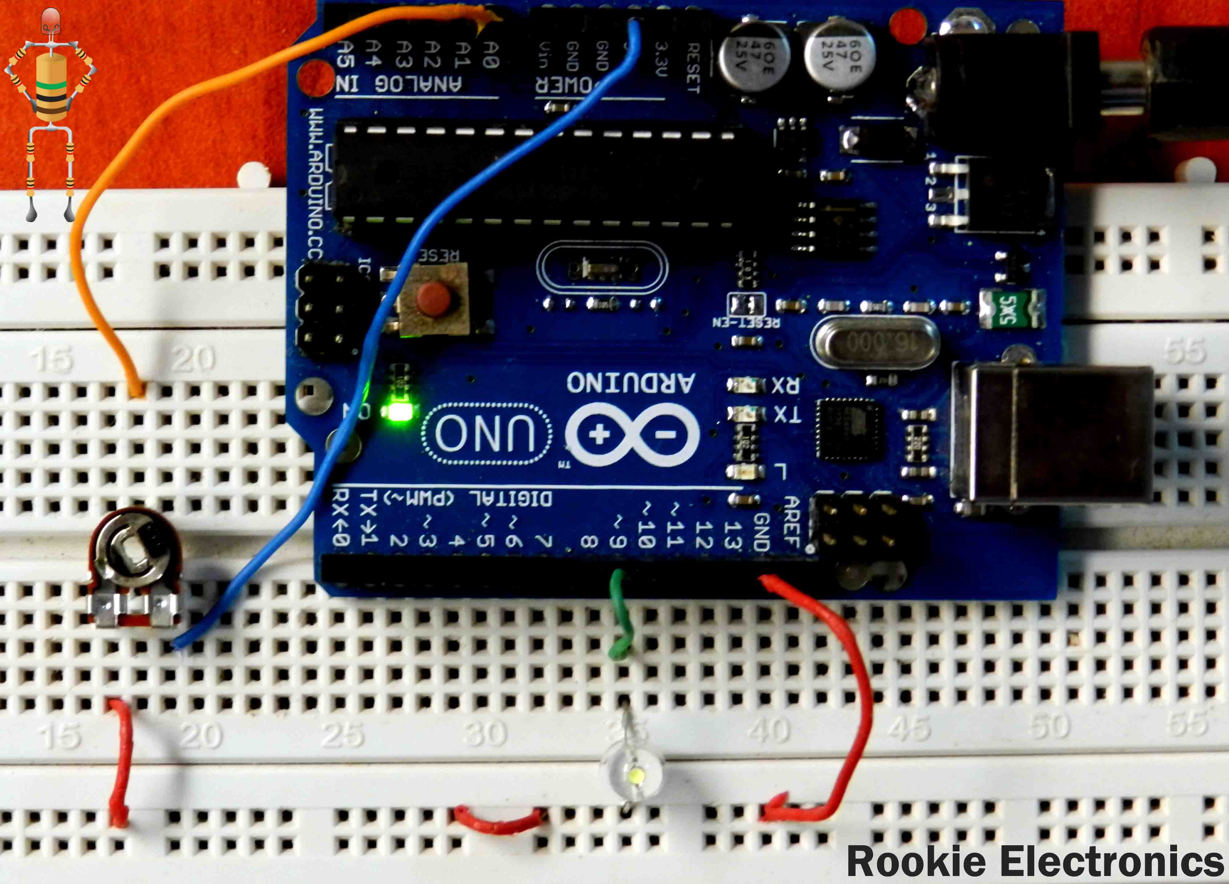 Controlling dc motor using arduino rookie electronics for Dc motor light led