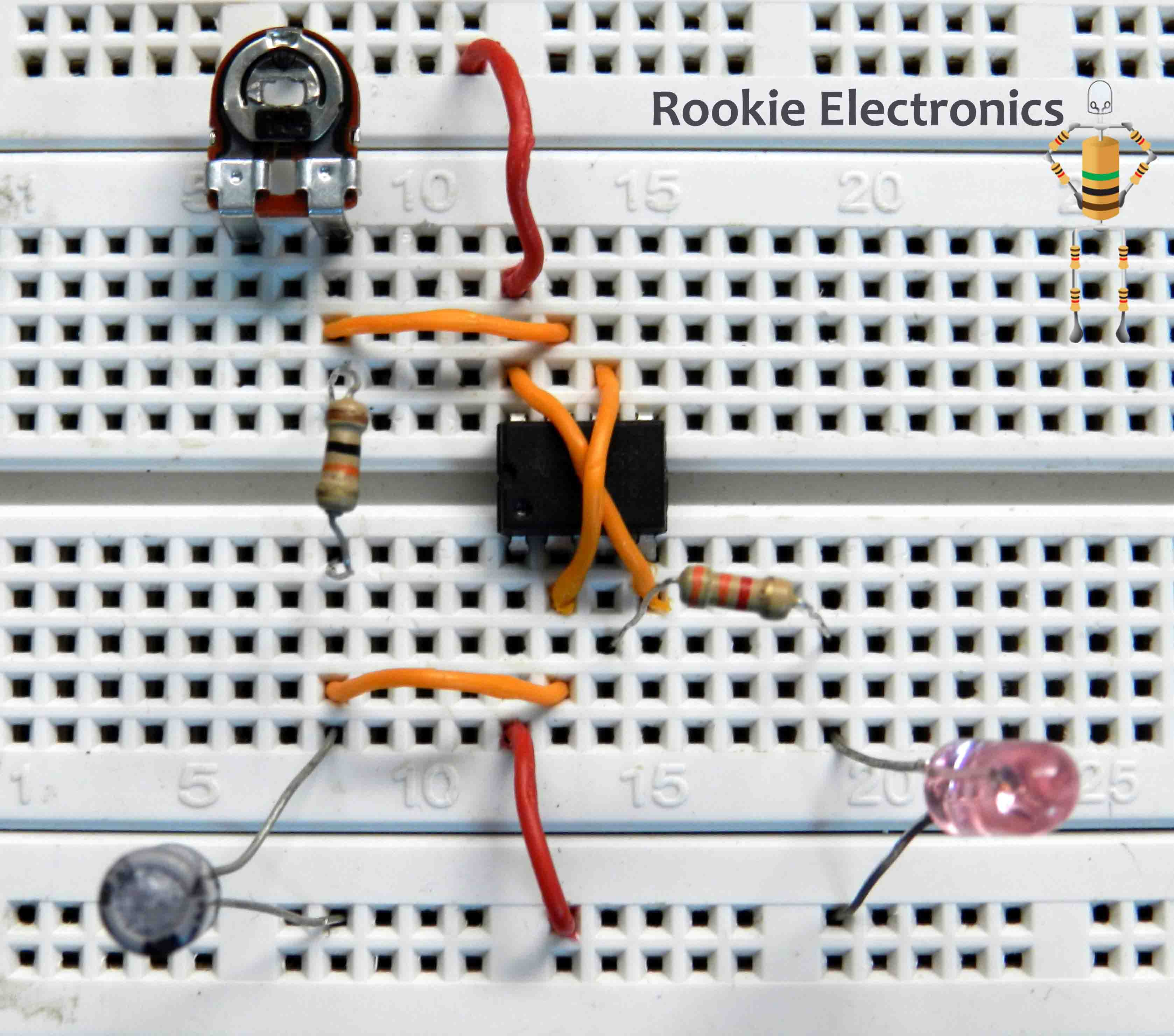 Basic 555 Timer Ic Projects Rookie Electronics Circuit