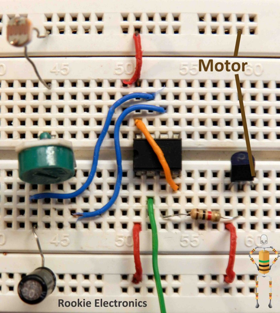 Lfr Using Just 555 Timers Rookie Electronics Timer Circuit Timing Electronic Tutorial I Name This Part Of The As Motor Driver Now Is A In Which Our Dc Geared Motors Are To Be Hooked Up So Wee Need Make